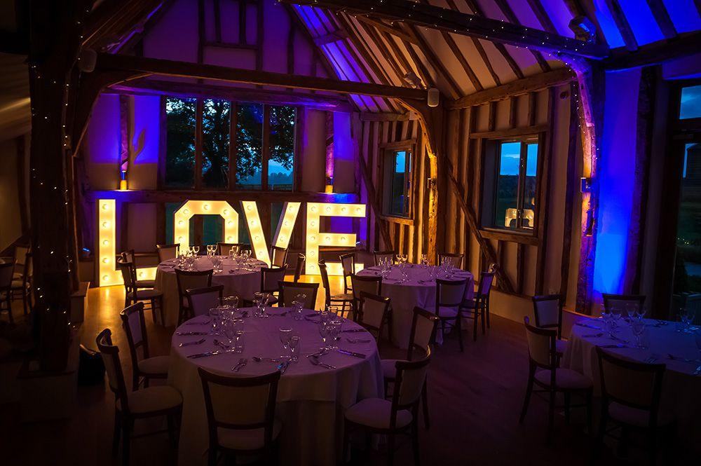Illuminated love lettering